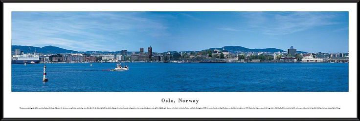 Oslo Skyline Panoramic Picture Framed, Norway