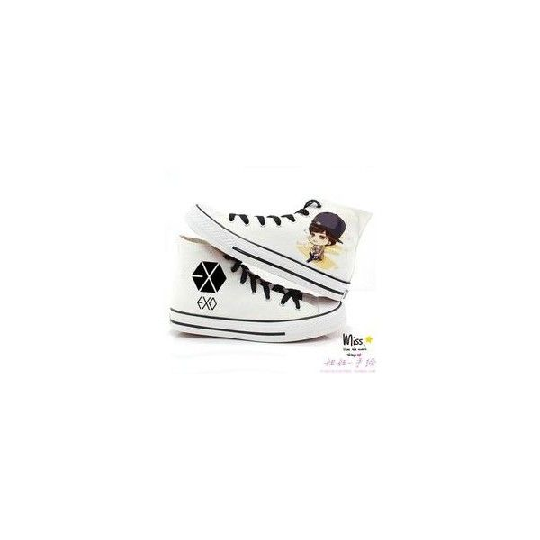 EXO XOXO Canvas Shoes Unisex Sneaker Korean Lace-ups Flat Leisure Shoe.