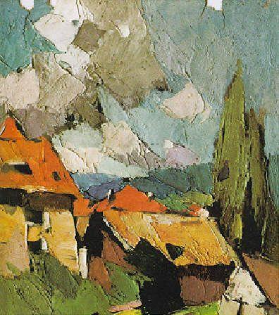 Frederic Fiebig. Sélestat - Coin rue Sainte Odile - Eté