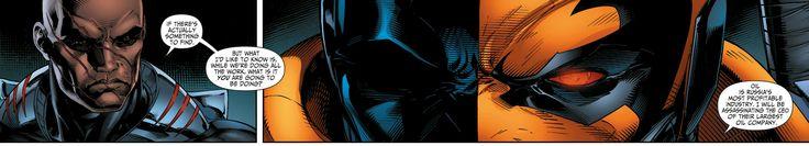 Suicide Squad Deathstroke and Black Manta