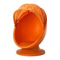 ИКЕА ПС ЛЁМСК Вращающееся кресло, оранжевый, светло-оранжевый 902.642.18