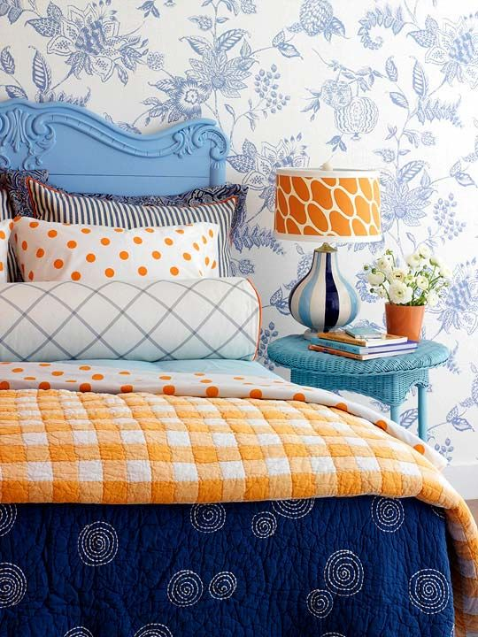 яркий интерьер для спальни