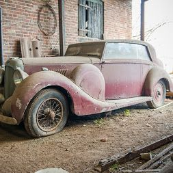 1939 Lagonda By British Coachbuilder Hooper Heads To Auction After Years Of Storage In A Barn Along With Aston Martin DBS Twins