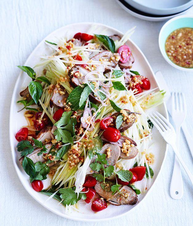 Crisp-Skin Duck with Green Papaya Salad : gourmettraveller