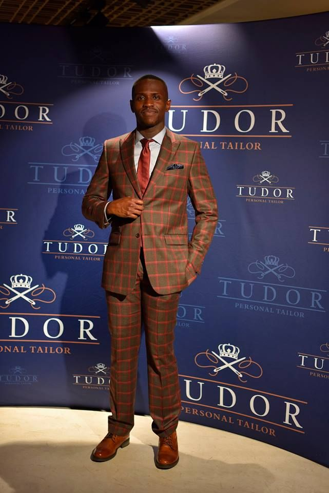 Michel Kotcha wears a beautiful casual #tudortailor suit at Tudor Personal Tailor Launch Event