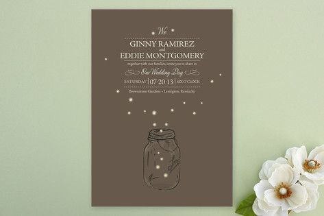 fireflies Wedding Invitations - great for a summer wedding