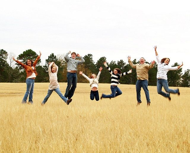 We just did a pic like this today with all 7 of us!: