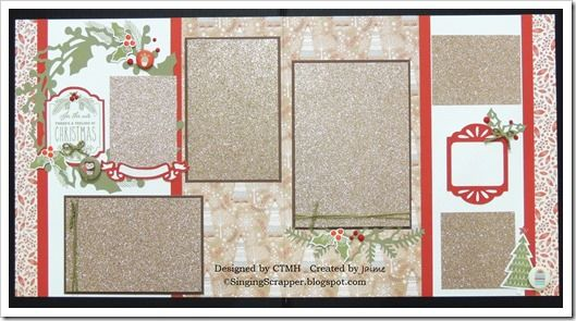 CTMH White Pines Workshop On The Go Kit Pages 1&2 featuring Gold Glitter Paper photo mats