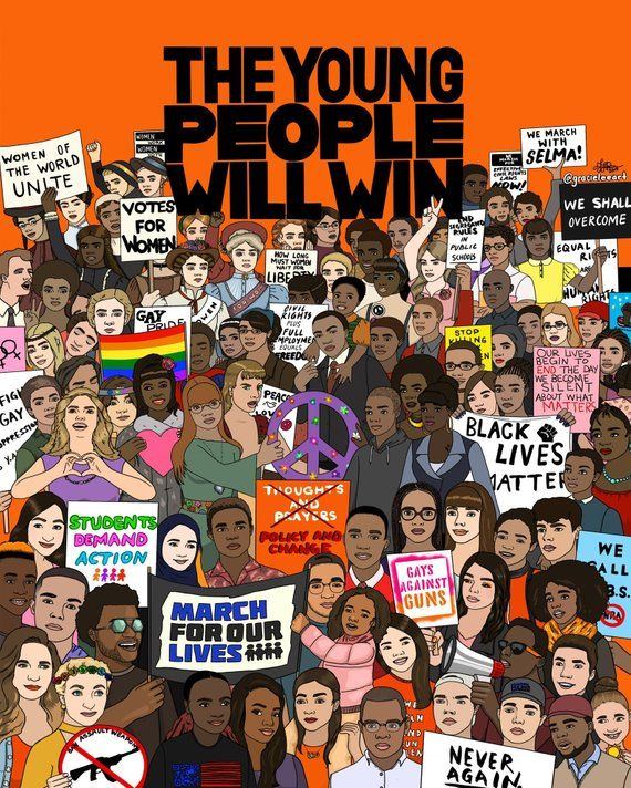 The Young People Will Win Etsy Black Lives Matter Art Protest Art Black Lives