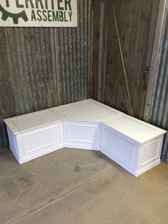 Delightful Banquette Corner Bench Seat With Storage By Prairiewoodworking