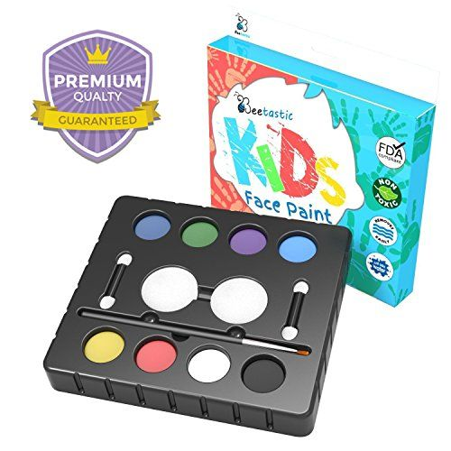 Beetastic Face Paint Kit for Kids - Premium Quality Non Toxic Face Painting Kits - Colorful Compliment to Snazaroo/Crayola/Disney Beetastic http://www.amazon.com/dp/B00V5A98KM/ref=cm_sw_r_pi_dp_hICIvb193B5EE
