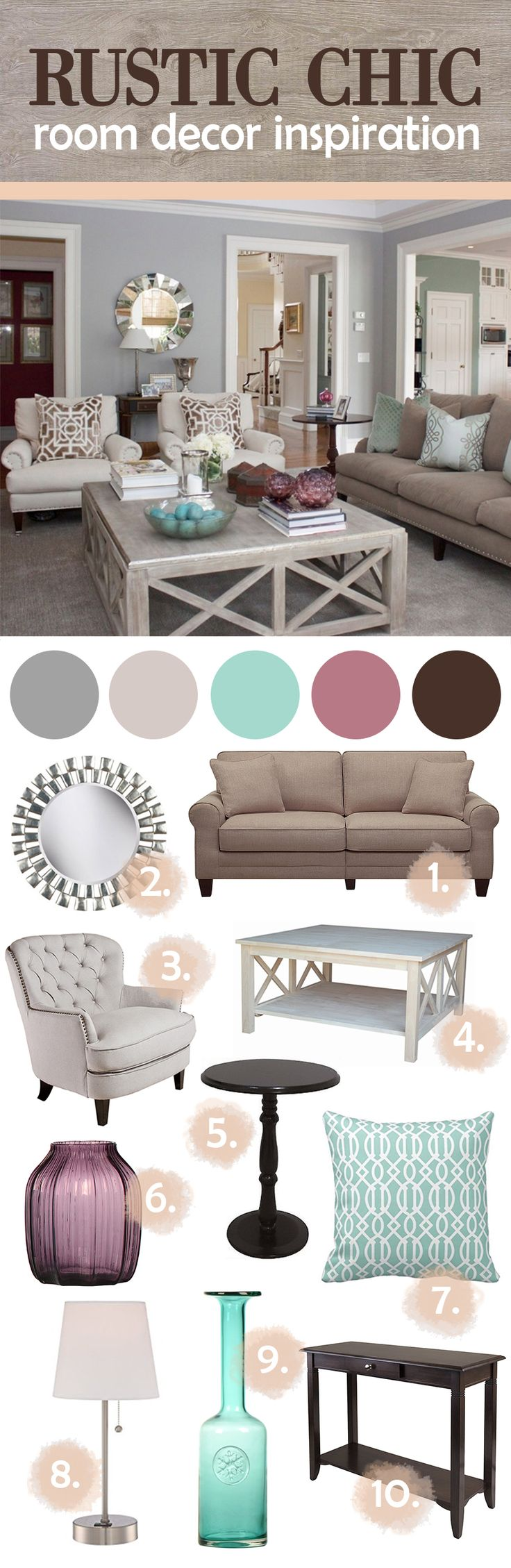 Rustic Chic Room Decor Inspiration #salon_decor_colors