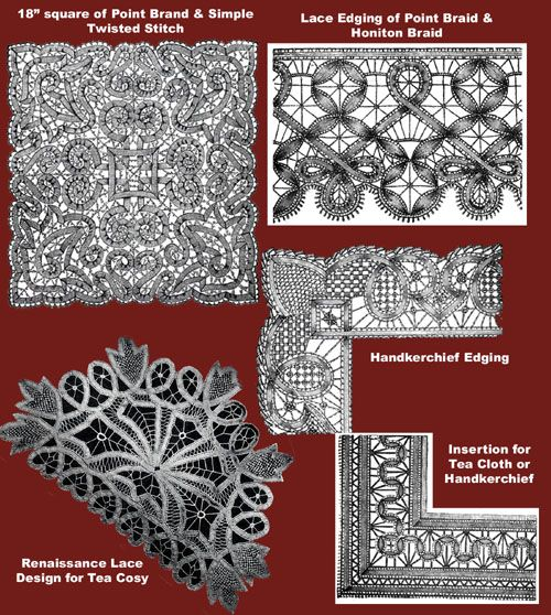 Iva Rose Vintage Reproductions - Needlecraft Practical Journal #16 c.1901 - Point Lace Work