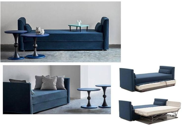 Modern Italian Sofa Bed With Trundle Bed Or Storage Drawers, Contemporary  Design