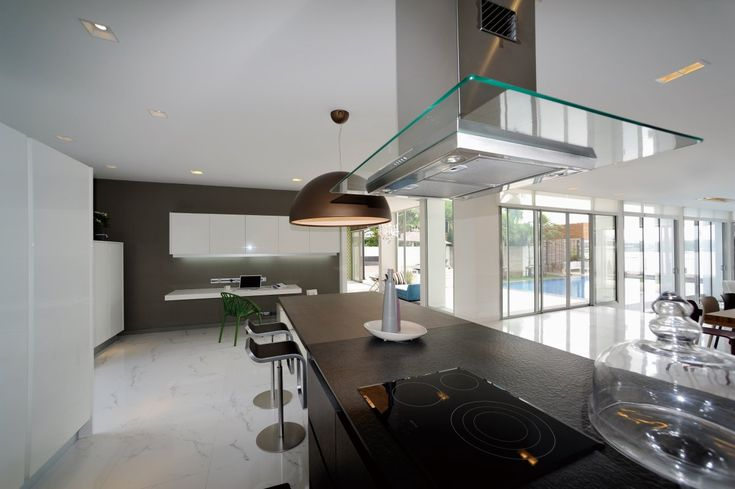 Contemporary Stove In Wooden Kitchen Table With Small Working Space View