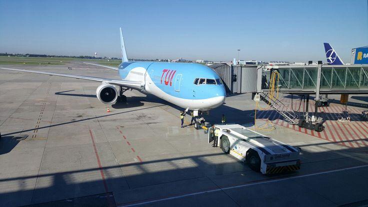 B767 Tui Airlines tuż przed lotem do Csncun. Fot. Przemysław Przybylski