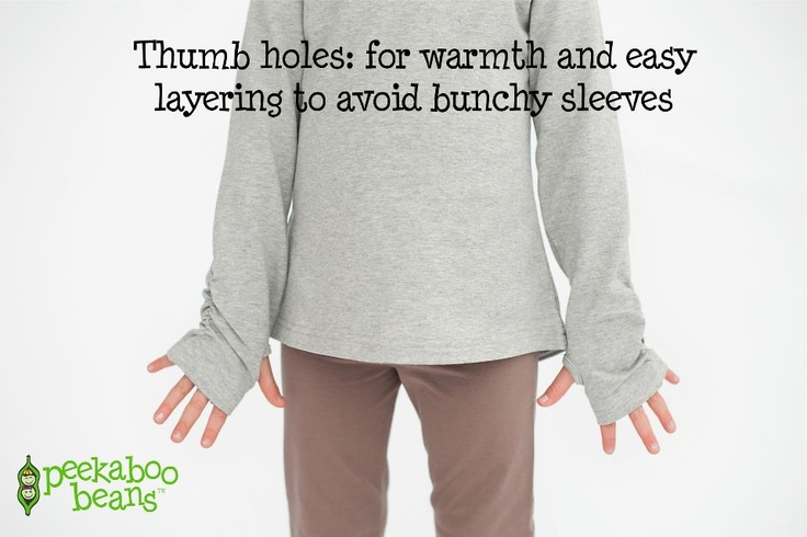 Kids love our thumbholes!