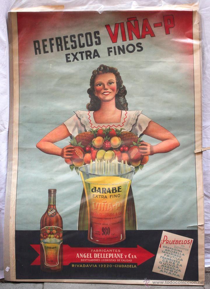cartel refrescos viña - P , ciudadela, cartel publicitario ...