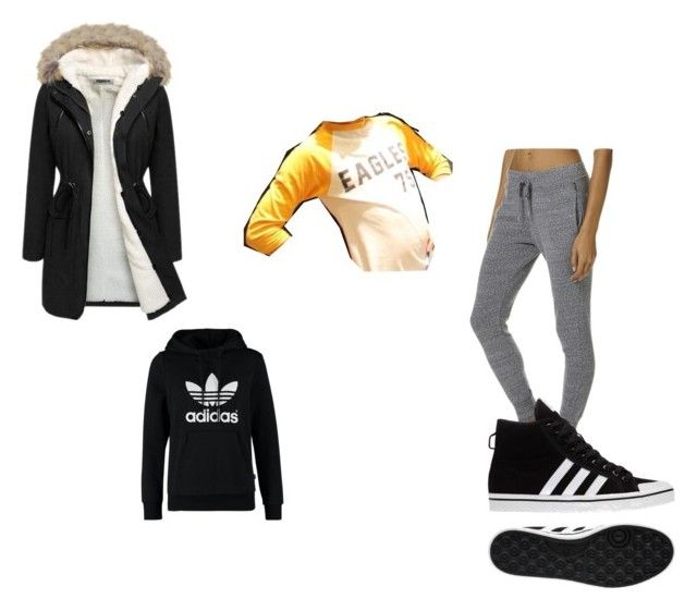 """#404"" by aureeliet on Polyvore featuring Bonds, adidas and adidas Originals"