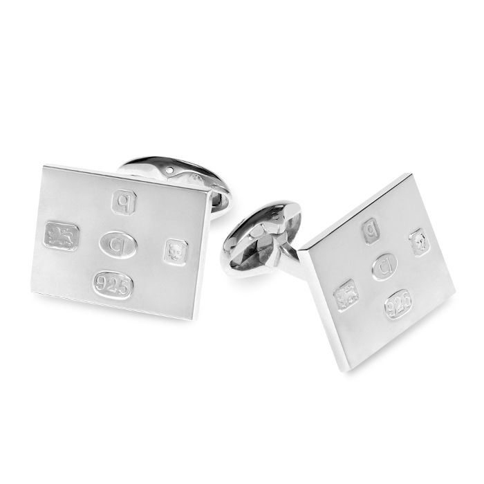 Sterling silver cufflinks are handmade in England & stamped with five distinguishing hallmarks by the London Assay Office.
