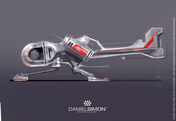 Bubbleship sketch / Daniel Simon