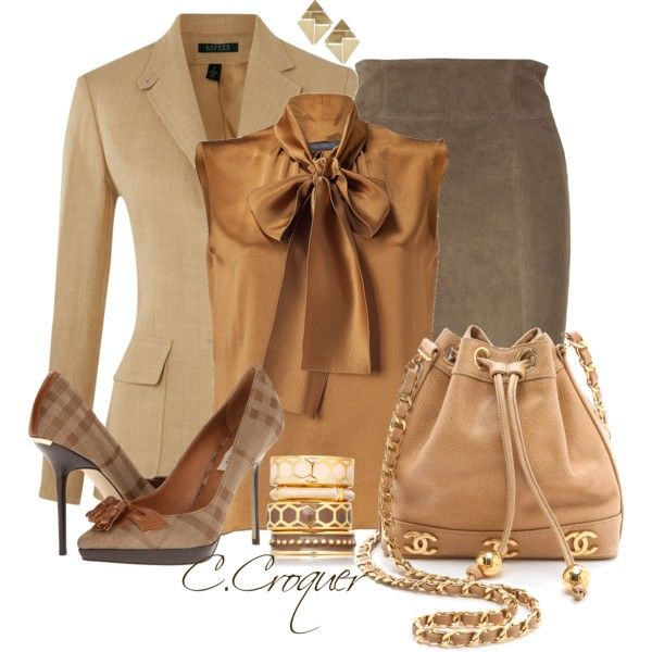 """Shades of Brown"" by ccroquer on Polyvore"
