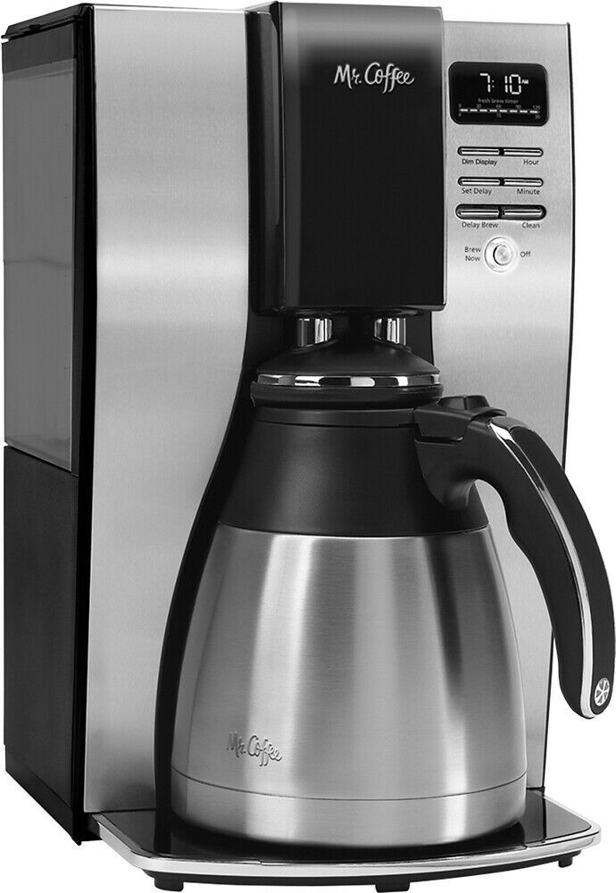 Mr Coffee 10 Cup Coffee Maker With Thermal Carafe Stainless Steel Black Thermal Coffee Maker Electric Coffee Maker Best Coffee Maker Coffee maker with stainless steel carafe