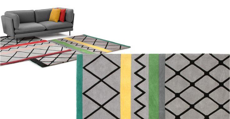 Maya hand tufted rug 160 x 230cm, Green Multi | made.com