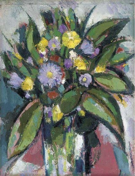 John Duncan Fergusson, 'Flowers from the roadside, Kelmdale'