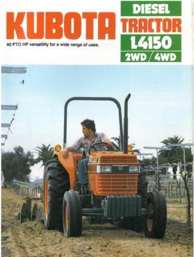 KUBOTA-TRACTOR-L4150-BROCHURE-BX109