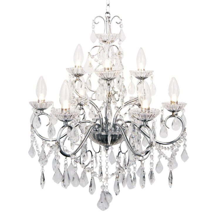 For a stunning, powerful centrepiece, the Forum Vela 9 Light Chandelier will give your bathroom an elegant, graceful look. Available at Victorian Plumbing.