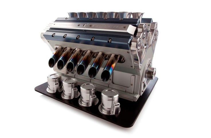 V12 эспрессо машина в виде двигателя гоночного автомобиля