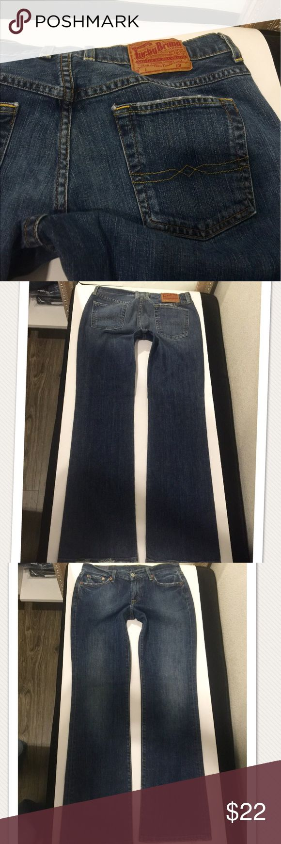 Lucky brand classic rider jeans size 28 nice!🍀😊 Classic rider Jean in excellent condition like new size 28 inseam 33 4% Lycra Lucky Brand Jeans