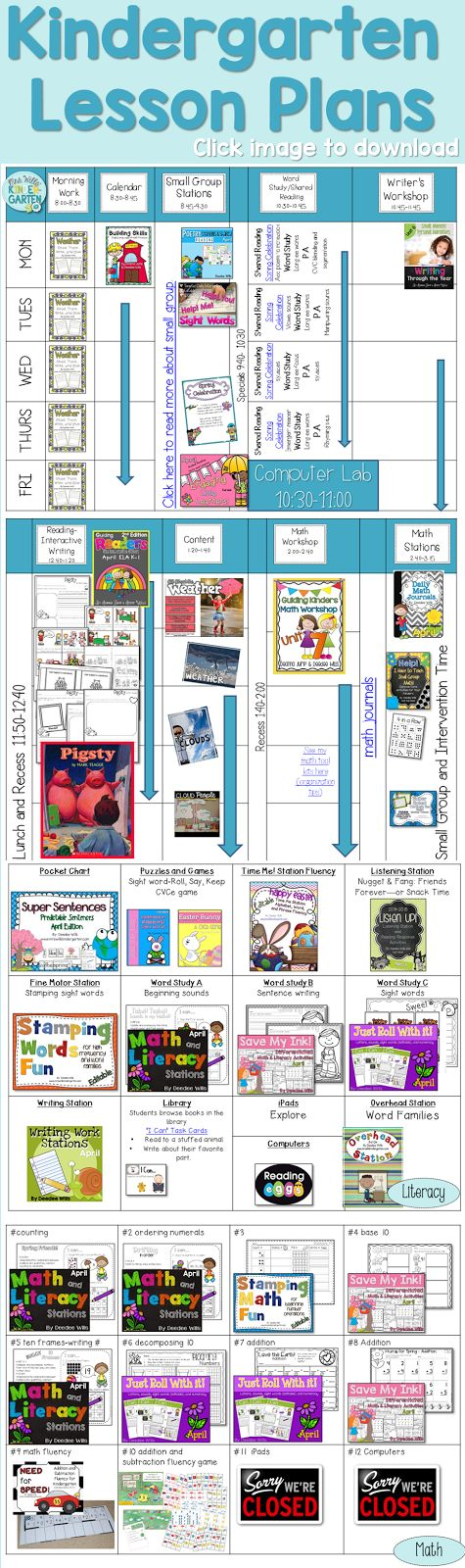 Kindergarten Lesson Plans!  Yippee for Spring!