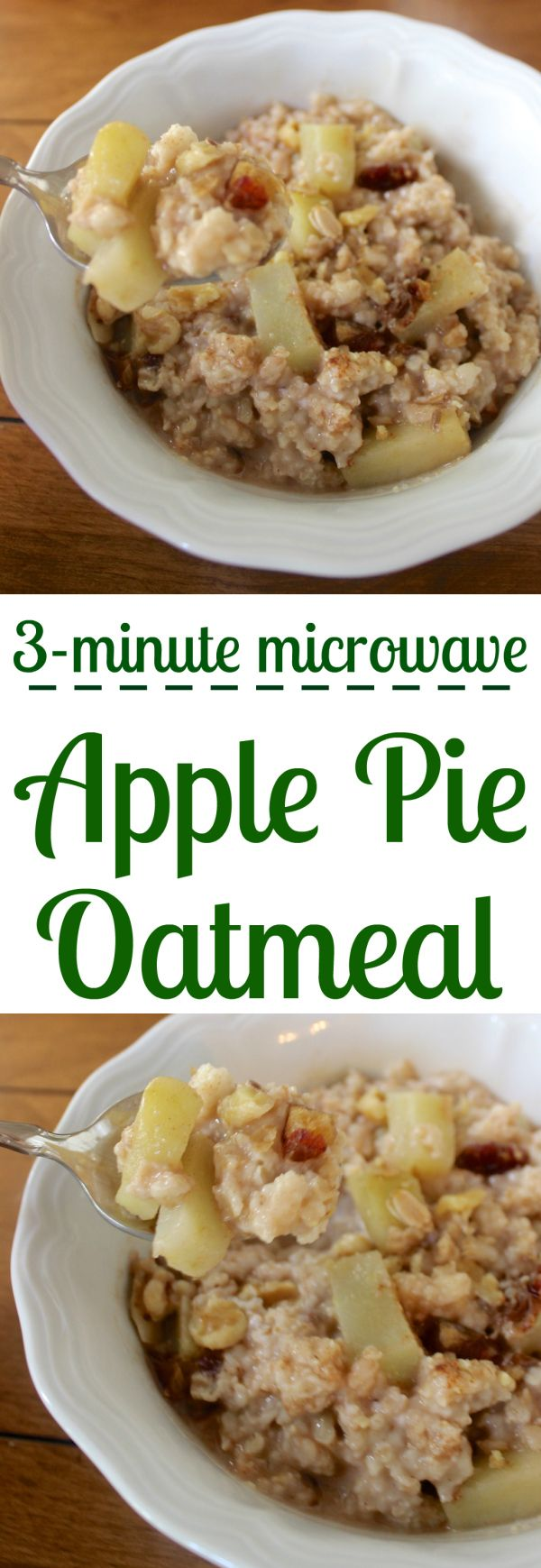 With cinnamon, walnuts, and raisins, this apple pie oatmeal is healthy breakfast comfort food!