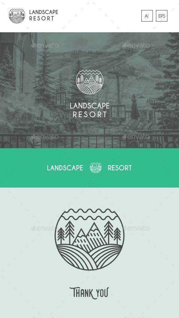 Landscape Resort Logo Template Vector EPS, AI Illustrator #logotype Download here: http://graphicriver.net/item/landscape-resort-logo-template/16491776?ref=ksioks