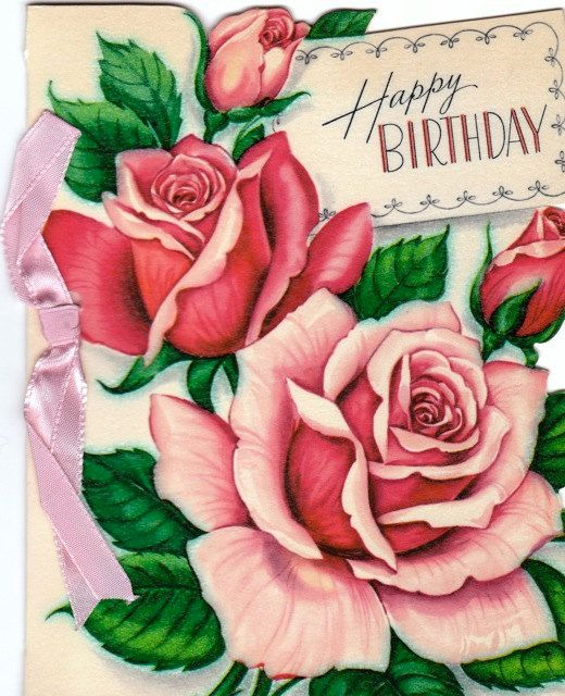 May Birthday Joy Be Yours 1955 Vintage by EphemeraObscura on Etsy, $3.50