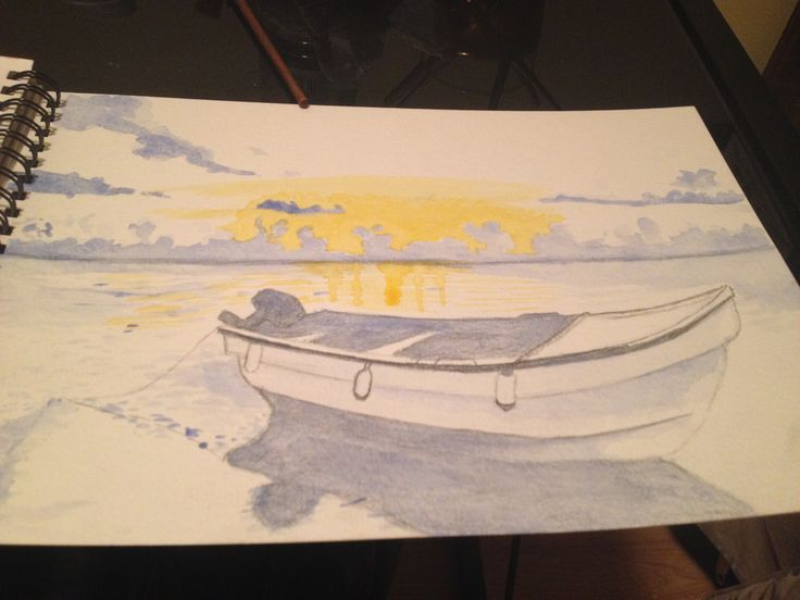Learning Water Colours Aterdecer. Imagen 1