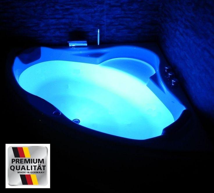 Luxus Badewanne mit Kopfstützen Acryl Eckbadewanne LED Wanne für Badezimmer weiß | Heimwerker, Bad & Küche, Indoor Whirlpools & -wannen | eBay!