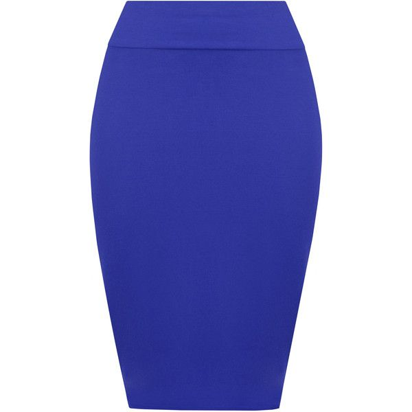 Tonya Basic Bodycon Pencil Skirt (£8) ❤ liked on Polyvore featuring skirts, bottoms, royal blue, midi pencil skirt, high-waisted pencil skirts, blue jersey, bodycon midi skirt and jersey pencil skirt