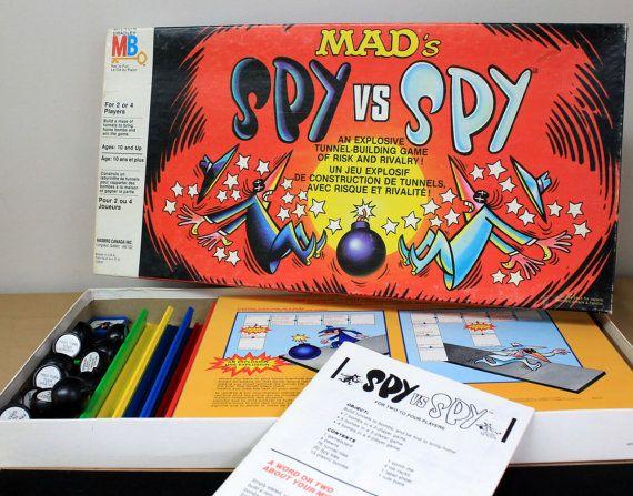 Vintage Mad Magazine Spy vs. Spy Board Game by MillyCatVintage