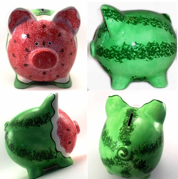 Awesome! Watermelon Piggy Bank :)