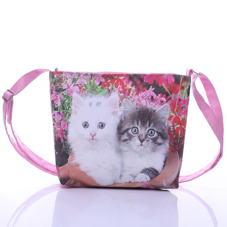 Cartoon leuke cat gedrukt kinderen tassen meisjes mini tassen satchel schoudertassen voor kids schooltas handtas meisje messenger bags