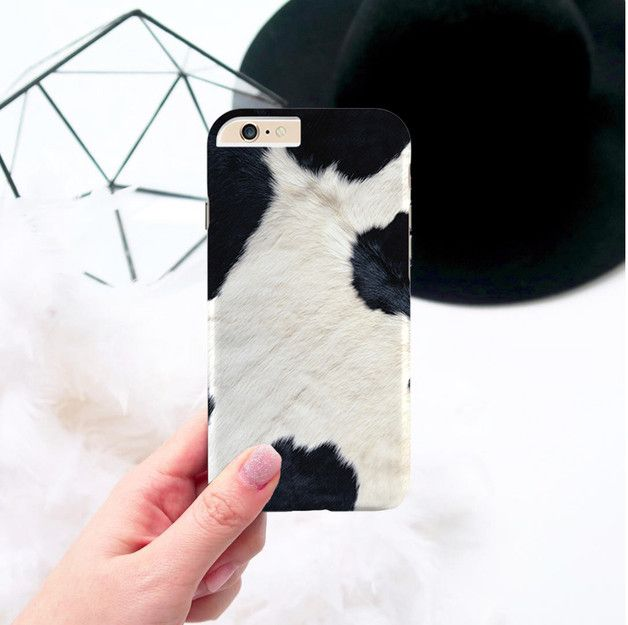 **Gisolo Black and White Cowhide Design hard back case cover for Apple iPhone 6s…