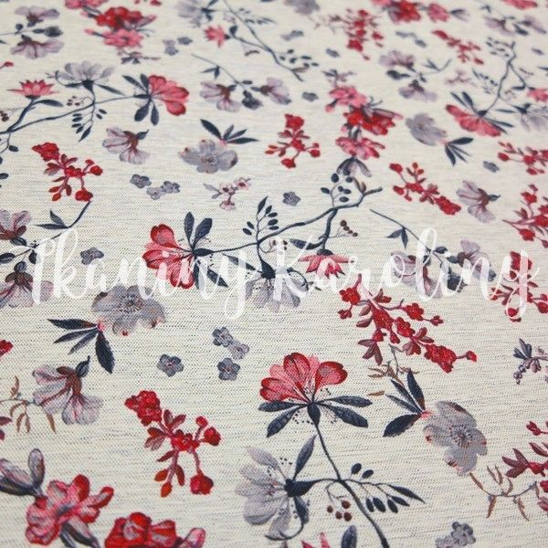 Dacota Wodoodporna Kwiaty Czerwone Tkaniny Karoliny Quilts Decor Home Decor