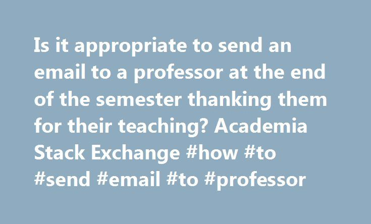 how to send email to professor about refernce