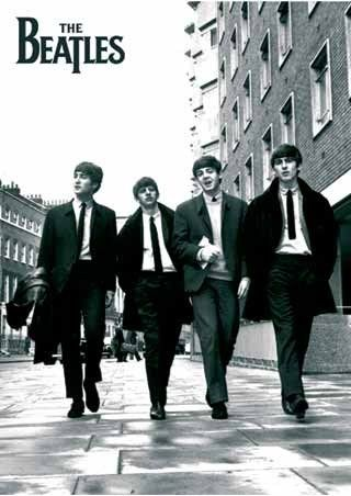 Beatles In London, Black and White Photo, The Beatles Poster: 91.5cm x 61cm - Buy Online