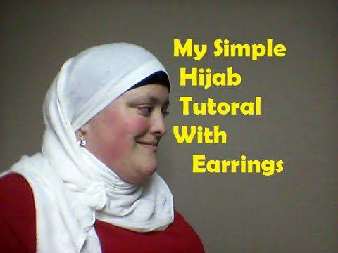My simple Hijab tutorial with earings