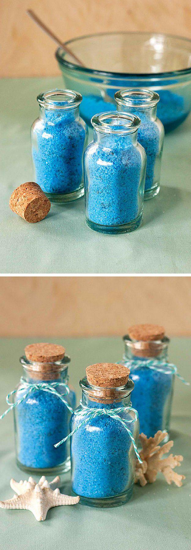 Mermaid Bath Salts | 17 DIY Bath Salts | Learn How To Make The Most Relaxing Bath Salt Recipes by DIY Ready at  http://diyready.com/17-diy-bath-salts-bath-salt-recipe/