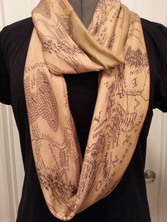 Lord of the Rings Middle Earth Infinity KNIT scarf. I would totally